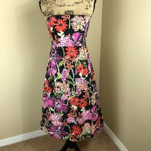 Lily Pulitzer Vibrant Floral Strapless Dress 8